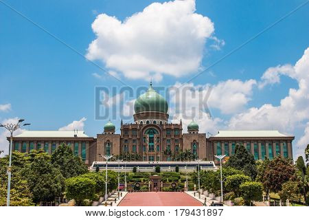 The Famous Place For Group Tourist. Perdana Putra Building The Office Of Prime Minister Malaysia.