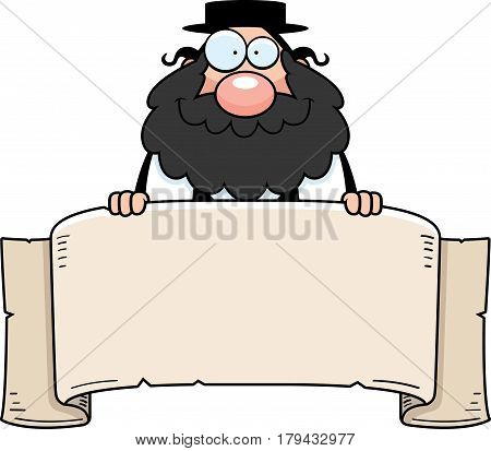 Cartoon Rabbi Banner