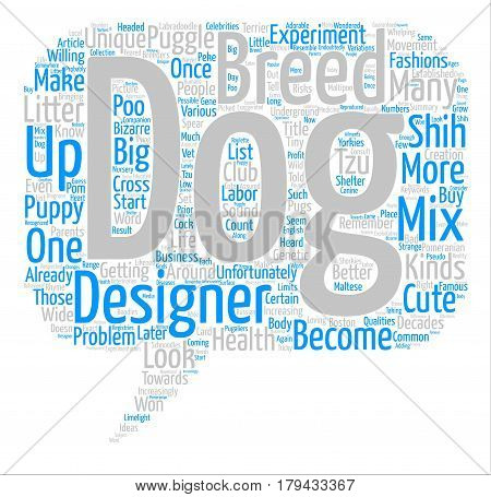 Designer Breeds Will You Remember Me Word Cloud Concept Text Background