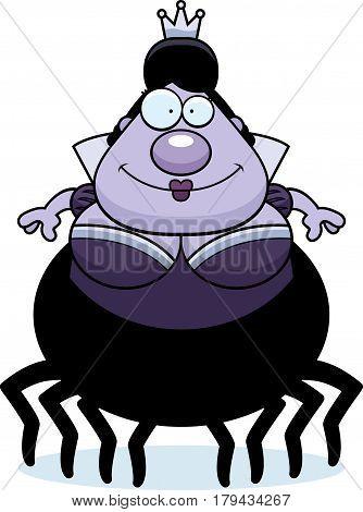 Smiling Cartoon Spider Queen