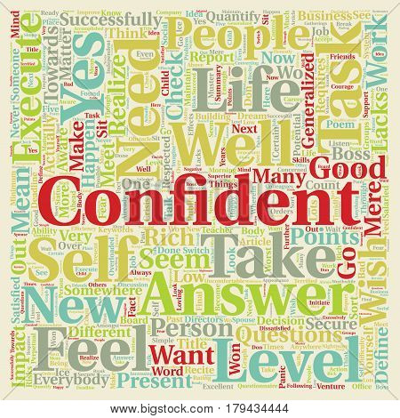 Did You Check Your Confidence Level text background wordcloud concept