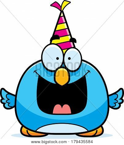 Cartoon Bluebird Birthday Party