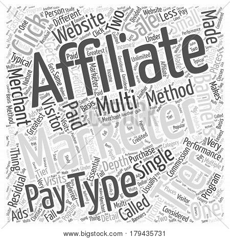 Different Types of Affiliate Marketing Word Cloud Concept