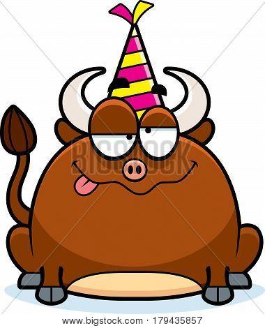 Cartoon Bull Drunk Party
