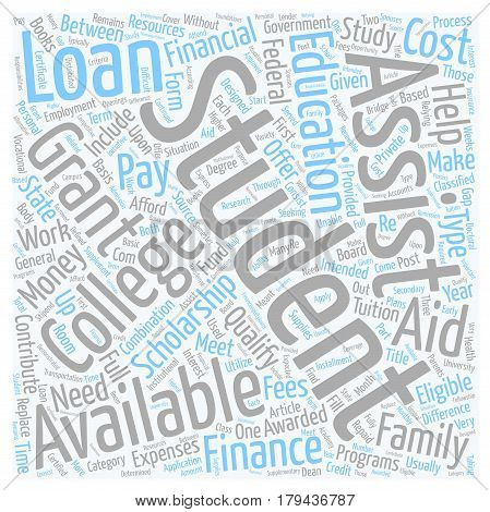 Financial Aid is Available to Students text background wordcloud concept