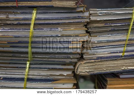Paper Files In Folder Old Documents Or Old Letter
