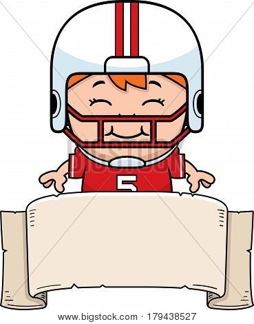 Cartoon Football Banner