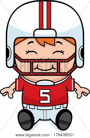 Cartoon Football Sitting