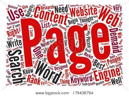 The Simple Truth About Optimized Web Content text background word cloud concept