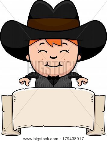 Cartoon Little Gunfighter Banner