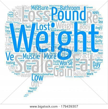 Throw Away Your Bathroom Scale Word Cloud Concept Text Background