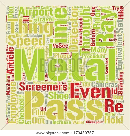 Top Tips to Get Through the Airport Checkpoint Quickly text background word cloud concept