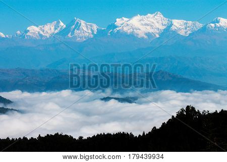 Mountains in the jungle of Nepal 2