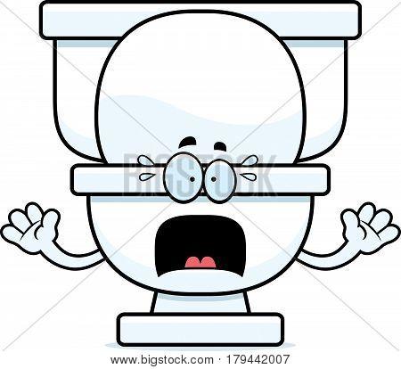 Scared Cartoon Toilet