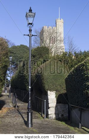Church Hill Steps leading to St Clement's Church Leigh-on-Sea near Southend Essex England