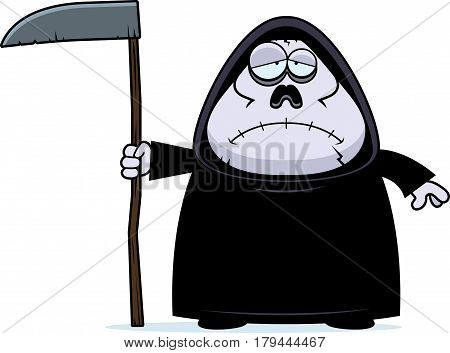 Sad Cartoon Grim Reaper