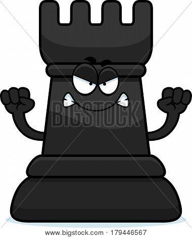 Angry Cartoon Chess Rook