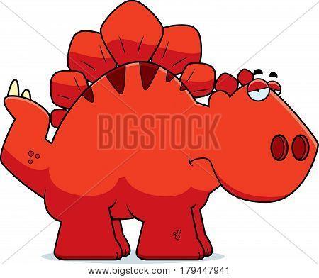 Sad Cartoon Stegosaurus