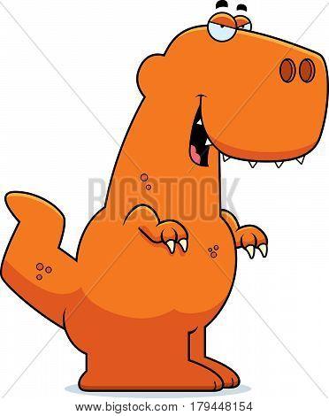 Sly Cartoon Tyrannosaurus Rex