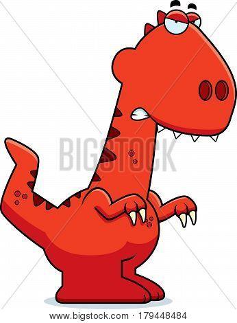 Angry Cartoon Velociraptor