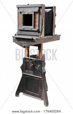 Old Vintage Wooden Camera