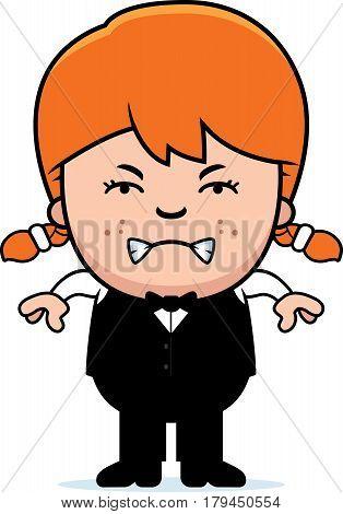 Angry Cartoon Little Waiter