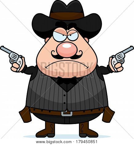 Angry Cartoon Gunfighter