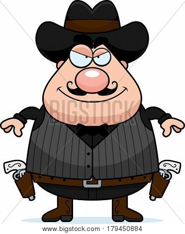 Smiling Cartoon Gunfighter