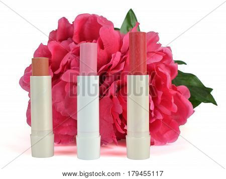 Lip Balm In Nude, Pink And Red Color