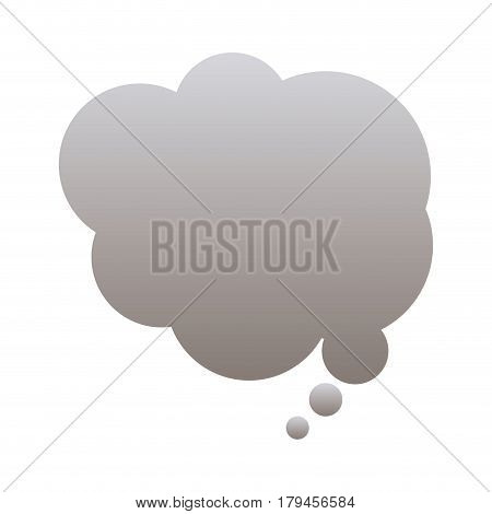 silhouette of cloud speech in gray color vector illustration