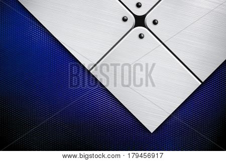 metal design with mesh background