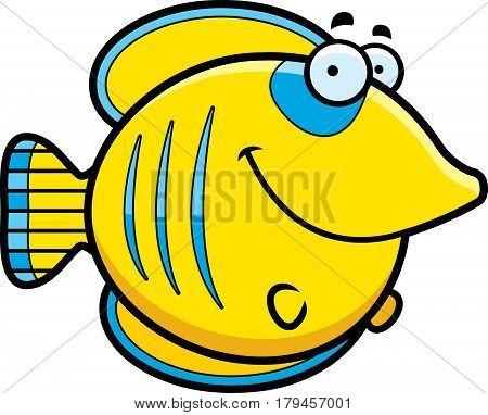 Cartoon Butterflyfish Smiling