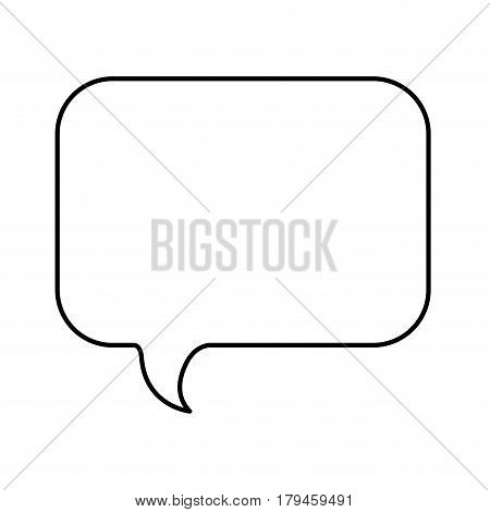 monochrome contour with rounded rectangle speech vector illustration