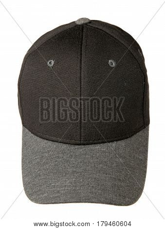 Hat Isolated On White Background. Hat With A Visor . Black Hat