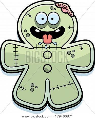 Hungry Cartoon Gingerbread Zombie