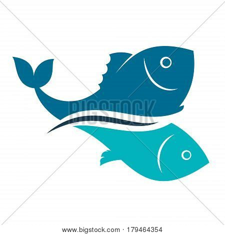 Fish design abstract for vector symbol illustration
