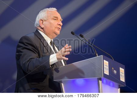 ST. JULIAN'S - MALTA 30 March 2017: President of the European People's Party Joseph Daul during the congress of EPP in Malta. Joseph Daul is a French politician and Member of the European Parliament for the East of France.