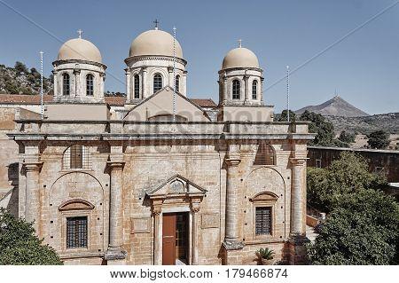Agia Triada - monastery on the island of Crete Greece