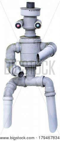 Plastic Pipe Dancing Robot Puppet Cutout