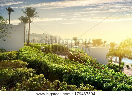 Resort in Sharm el Sheikh at sunrise