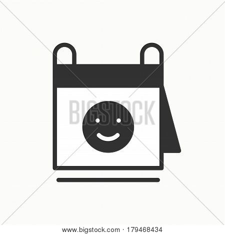 Calendar line icon. Reminder, party time, date. Party celebration birthday holidays event carnival festive. Thin linear party basic element icon. Vector simple design. Illustration. Flat symbols sign
