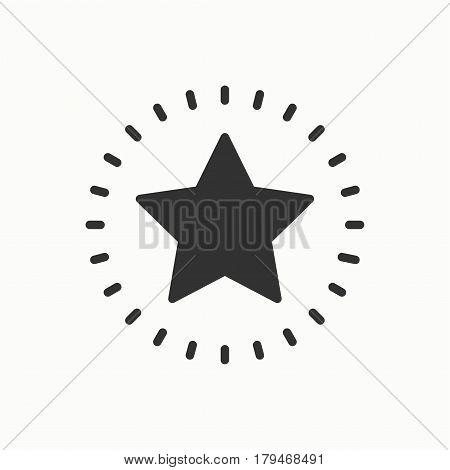 Star line outline icon. Best choice, favorite sign, rating symbol. Trendy isolated flat style. Vector simple linear design. Illustration. Thin element