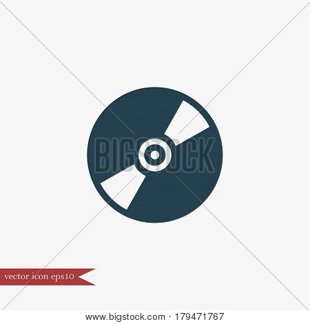 Cd disc icon simple music sign vector illustration