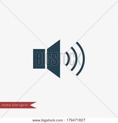 Loudspeaker icon simple music sign vector illustration