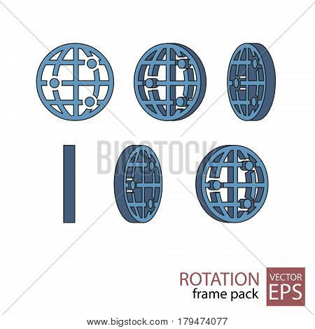 Website Rotating Icon Set Of Frames