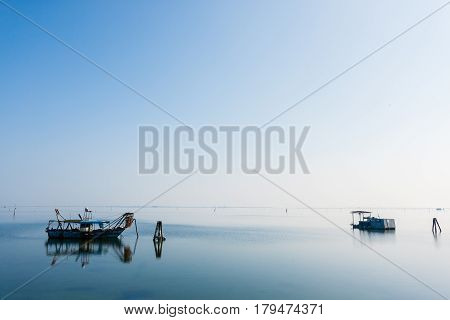 Fishing Boats From Po River Lagoon, Italy
