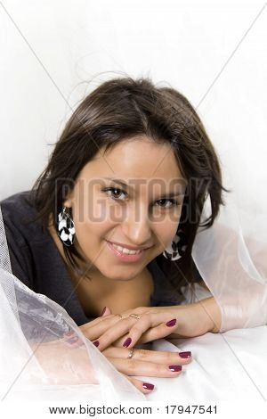 Young beautiful smiling girl