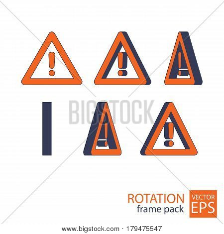 Attention Rotating Icon Set Of Frames