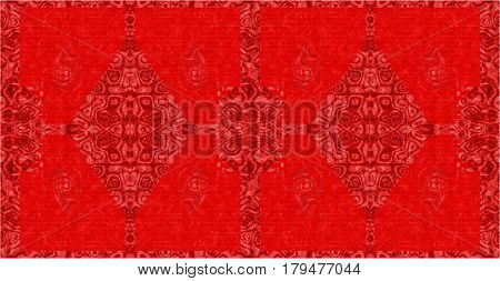 Red carpet with abstract pattern as seamless background