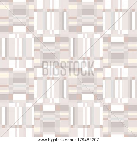 Abstract ruffle geometric seamless pattern. Square stripe ornament